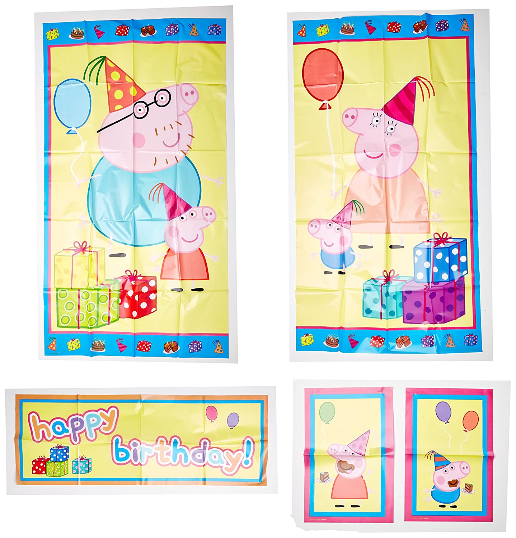 Amazon.com: Amscan Peppa Pig Birthday Party Scene Setters Wall ...