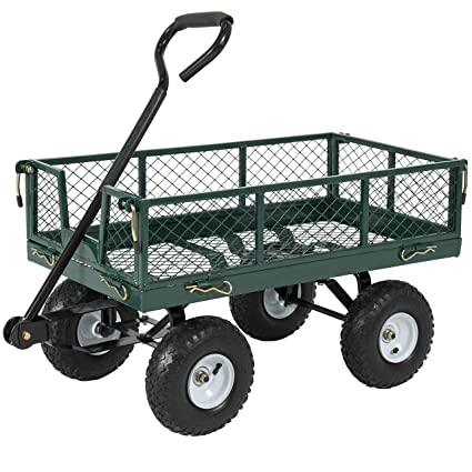Superbe Best Choice Products Utility Cart Wagon Lawn Wheelbarrow Steel Trailer  660lbs