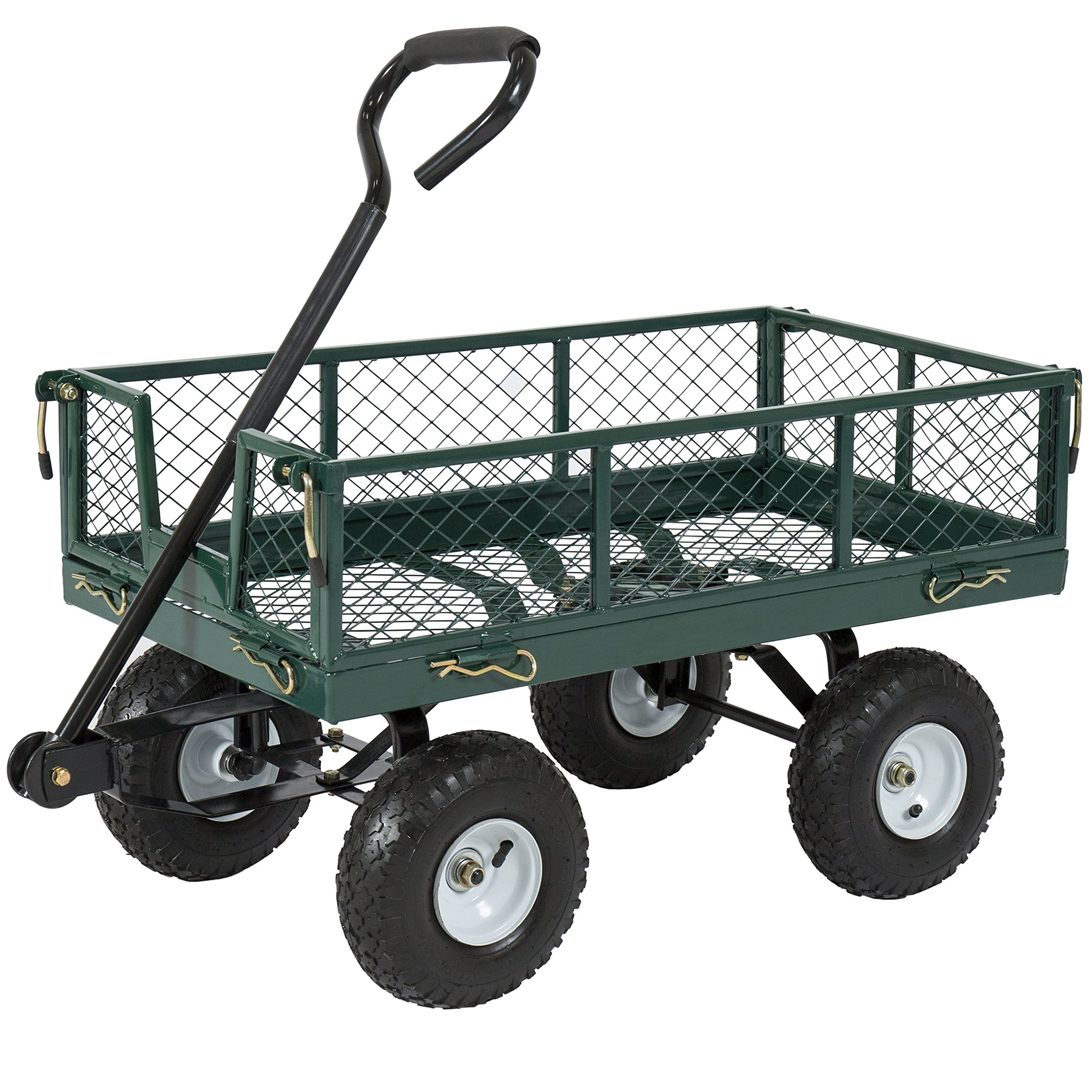 Best Choice Products Utility Cart Wagon Lawn Wheelbarrow Steel Trailer 660lbs by Best Choice Products