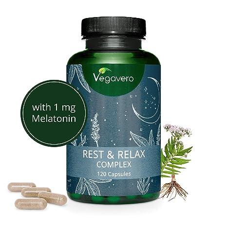 Suplemento Para Ansiedad + Insomnio Vegavero® | Anti Estrés | Melatonina + Valeriana + Pasiflora + Lavanda + Bacopa Monnieri | Sin Aditivos | 120 ...