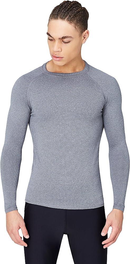 Activewear Camiseta Técnica Deportiva Hombre, Gris (Grey Marl), Small: Amazon.es: Ropa y accesorios