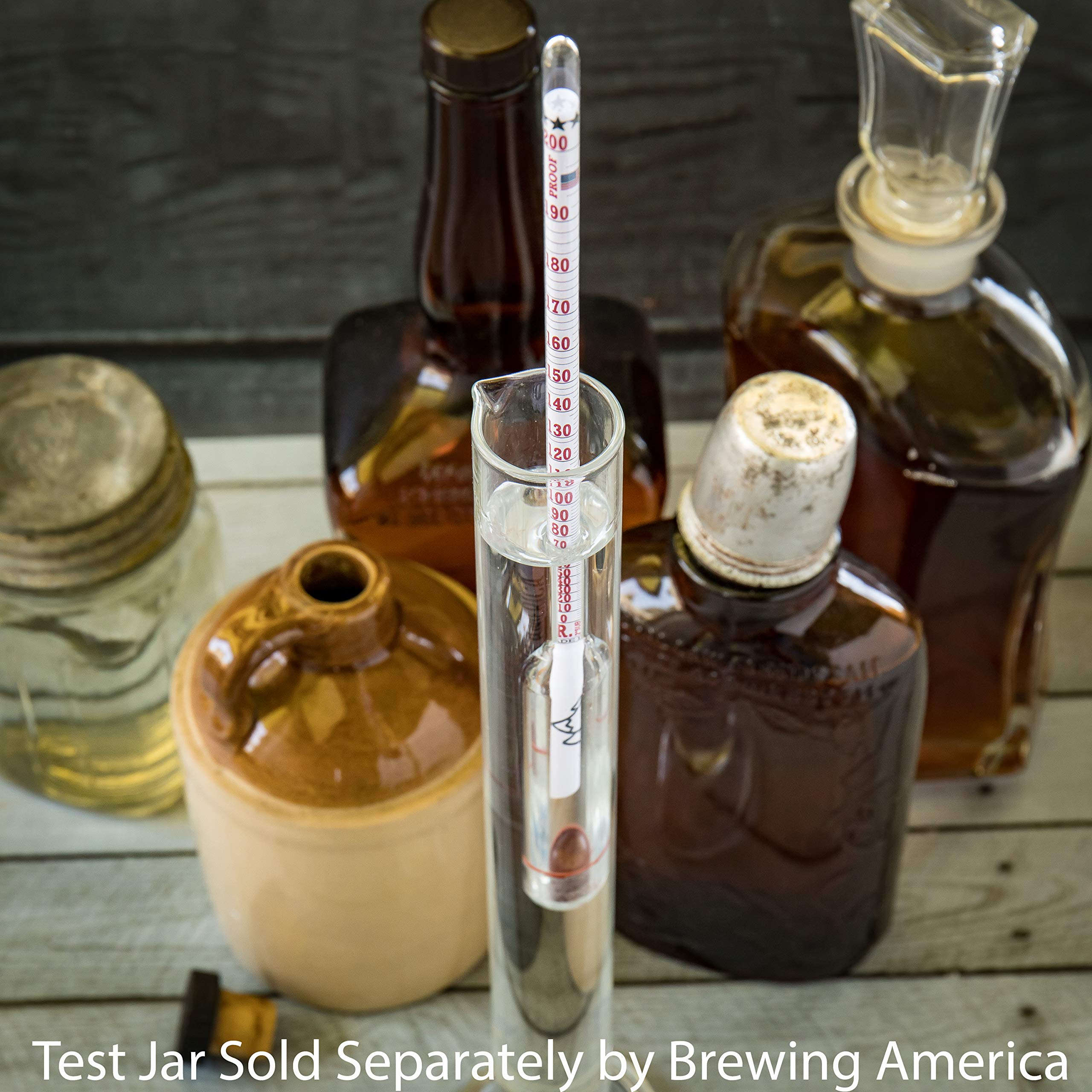 American-Made Alcohol Hydrometer Tester 0-200 Proof & Tralle Pro Series Traceable - Distilling Moonshine Alcoholmeter by Brewing America (Image #8)
