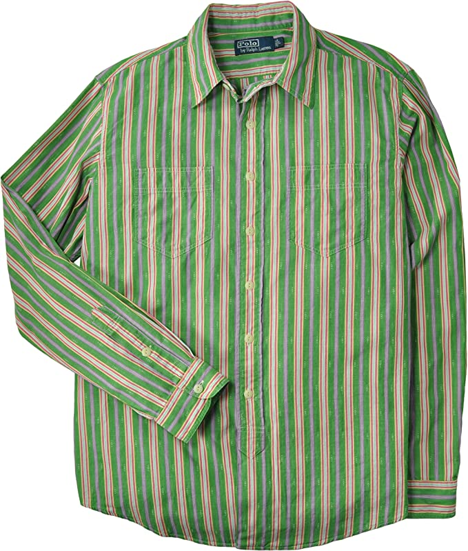 Polo Ralph Lauren hombres Camisa Custom-Fit Dobby rayada X-Large ...