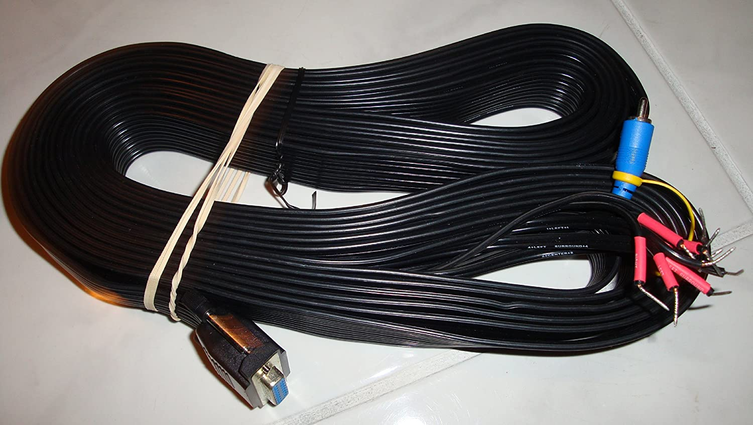 Bose Audio Cable 15 Pin From Subwoofer To Receiver Wiring A Home Theater