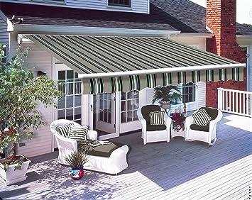 sun canopy 2x1.5M Grey Garden Patio Manual Awning Canopy Sun Shade ...