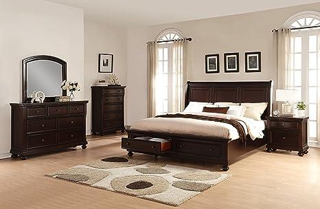 Amazon.com: Roundhill Furniture Brishland Storage Bedroom ...
