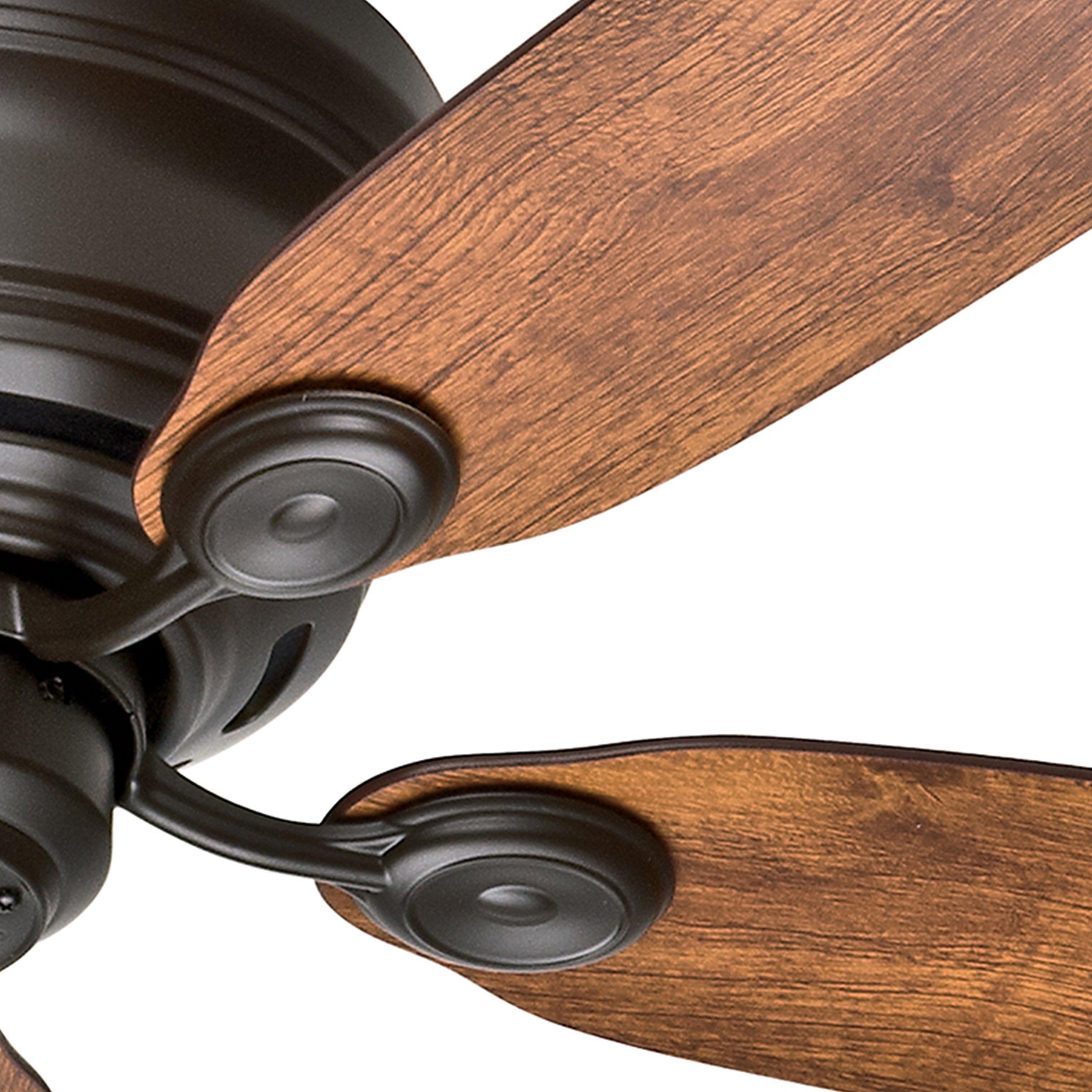 Hunter Fan 42'' New Bronze Finish Low Profile Ceiling Fan with Reversible Weathered Oak / Wine Country Blades (Certified Refurbished) by Hunter Fan Company (Image #4)