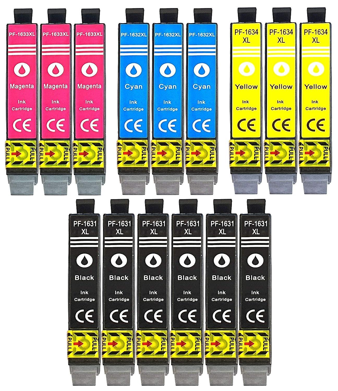 15 XL Cartuchos de impresora con chip e indicador de nivel para Epson Workforce WF- 2010 de, WF 2510, WF-2010 W, WF-2510WF, WF 2520, WF-2520NF, WF ...
