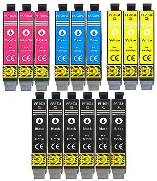 15 XL Cartuchos de impresora Negro, Cian, Magenta, Yellow ...