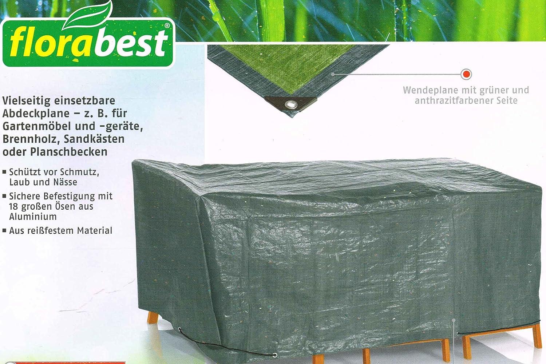 Abdeckplane Bau Hobby Brennholz Gewebeplane 280 g//m²   weiss 2 x 3 6m²
