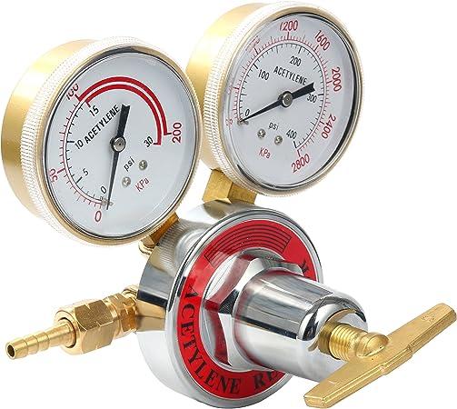Haofst Welding gas welder acetylene Regulator for torch cutting kits CGA 510