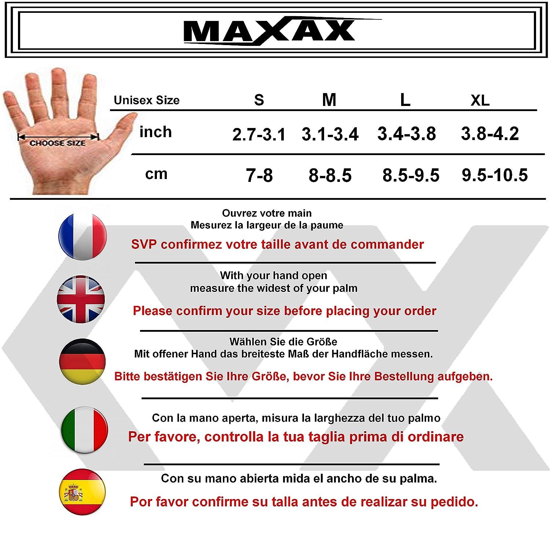 Guanto Tattili Traspiranti Omologati Standard Europeo 1KP CE Comodi e di Qualit/à in Pelle e Tessuto Unisex e Mezza Stagione Taglia S M L XL Guanti Moto Motocross Scooter MAXAX Omologati CE