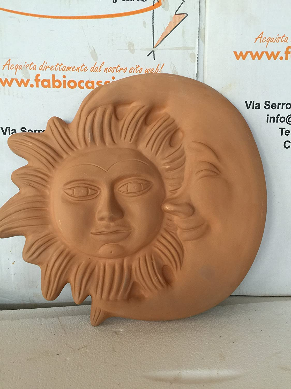 sole e luna in terracotta gigante Giardino e giardinaggio ...
