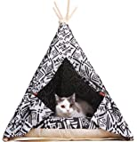 little dove Pet Teepee Dog(Puppy) & Cat Bed - Portable Pet Tents & Houses for Dog(Puppy) & Cat Indian Style (with or without optional cushion)
