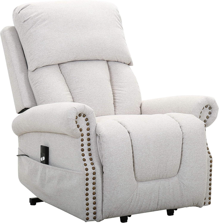 Amazon Brand – Ravenna Home Albert Power-Lift Assist Recliner Chair, 34.3