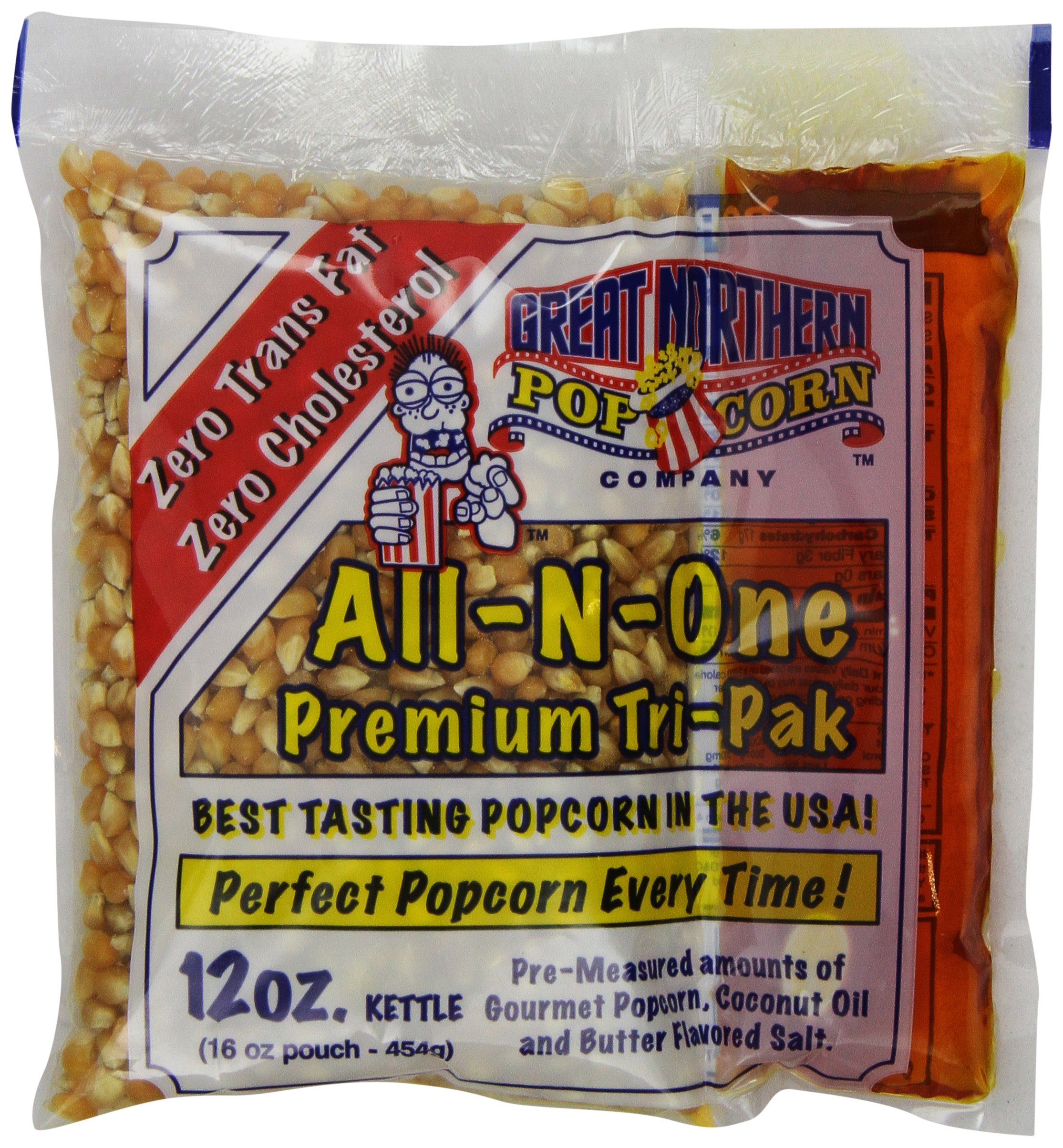 4111 Great Northern Popcorn Premium 12 Ounce (Pack of 24) Popcorn Portion Packs Cinema, Case of 24 by Great Northern Popcorn Company