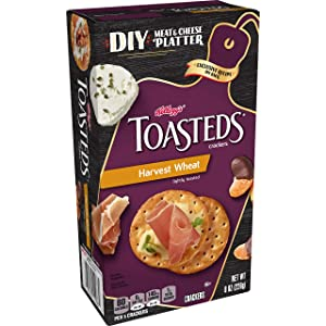 Keebler, Toasteds, Crackers, Harvest Wheat, 8 oz(Pack of 6)