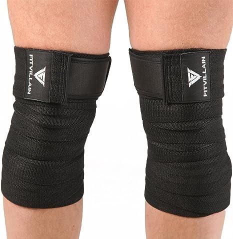 BeSmart Lifters Knee Sleeves Pair Free Wrist Wraps Strap Crossfit//Powerlifting//Squatting