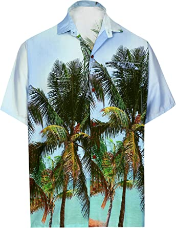 HAPPY BAY bot/ón de la Playa de los Hombres Abajo con Botones Aloha Partido