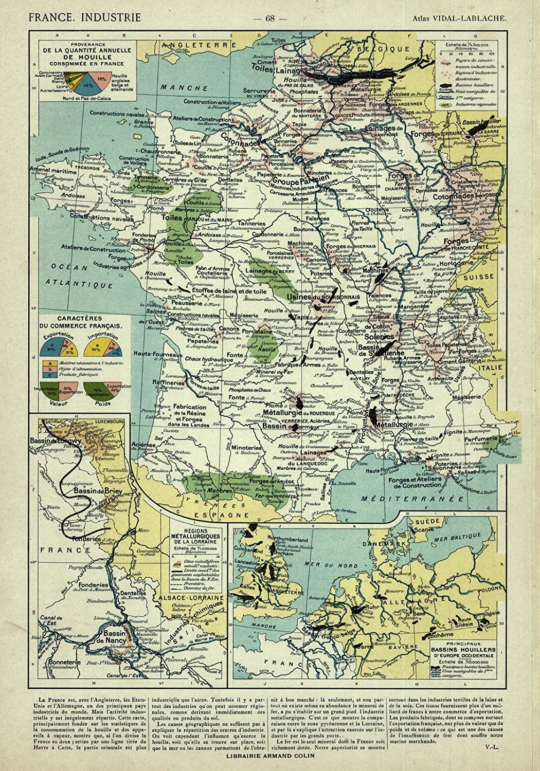 Map Of France 1500.Amazon Com Historic Map 1908 France Industrie Posters Prints