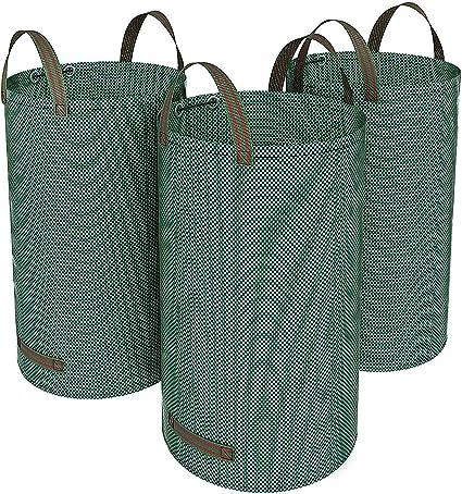 SONGMICS Bolsas para Desechos de jardín, Saco para Residuos, 3 Unidades, 120L, Verde GTS120L: Amazon.es: Hogar