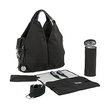 ea187f5c99 Amazon.com   Lassig Green Label Neckline Diaper Bag Black   Diaper Tote Bags    Baby