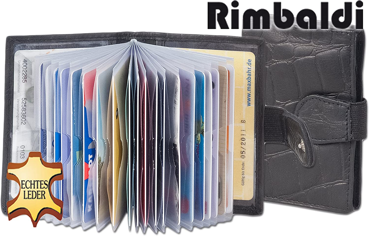 Rimbaldi Credit Card holder with 22 slots made of untreated cowhide