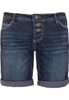 Rock Angel Damen Bermuda mit Pailletten I Kurze Hose I Jeans