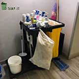 TAMP-IT Mighty Mini Manual Trash Compactor Frees Up Space in Bins, Receptacles, Dumpsters Reduce Trips to Dispose Trash Cost Effective
