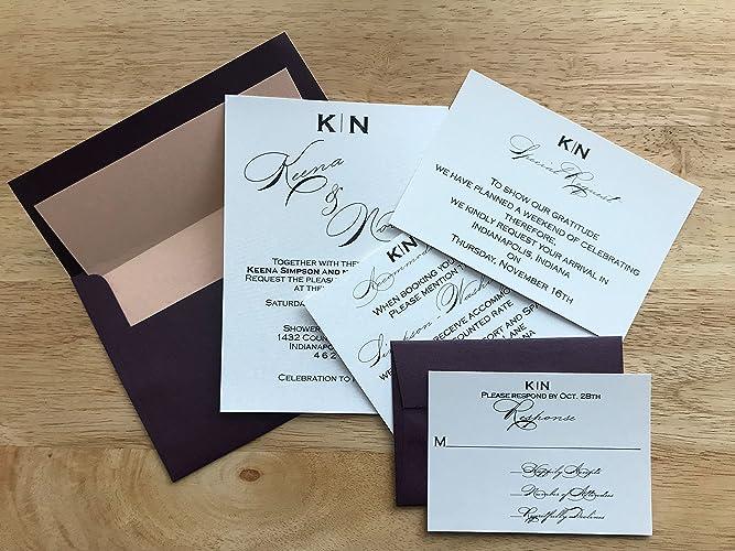 amazon com wedding invitations burgundy and peach wedding