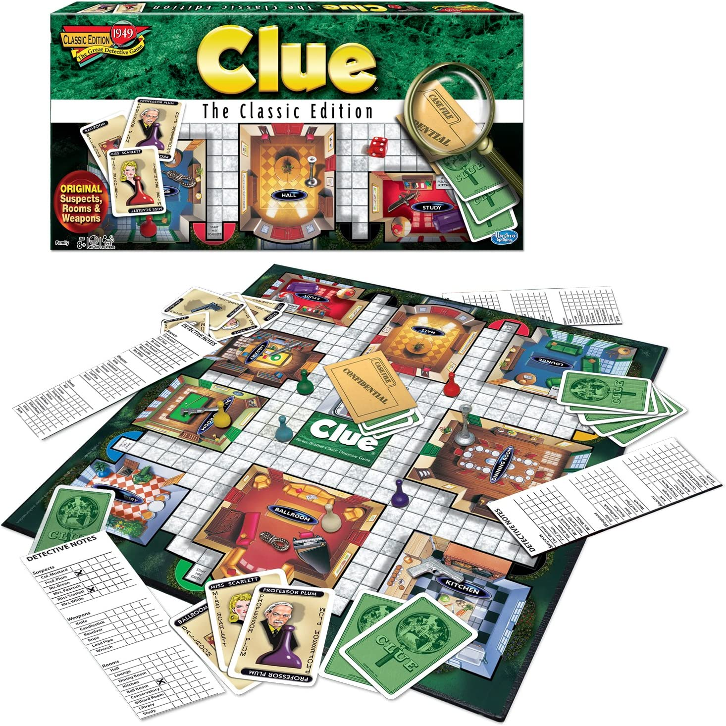 New Free shipping Clue Board Game