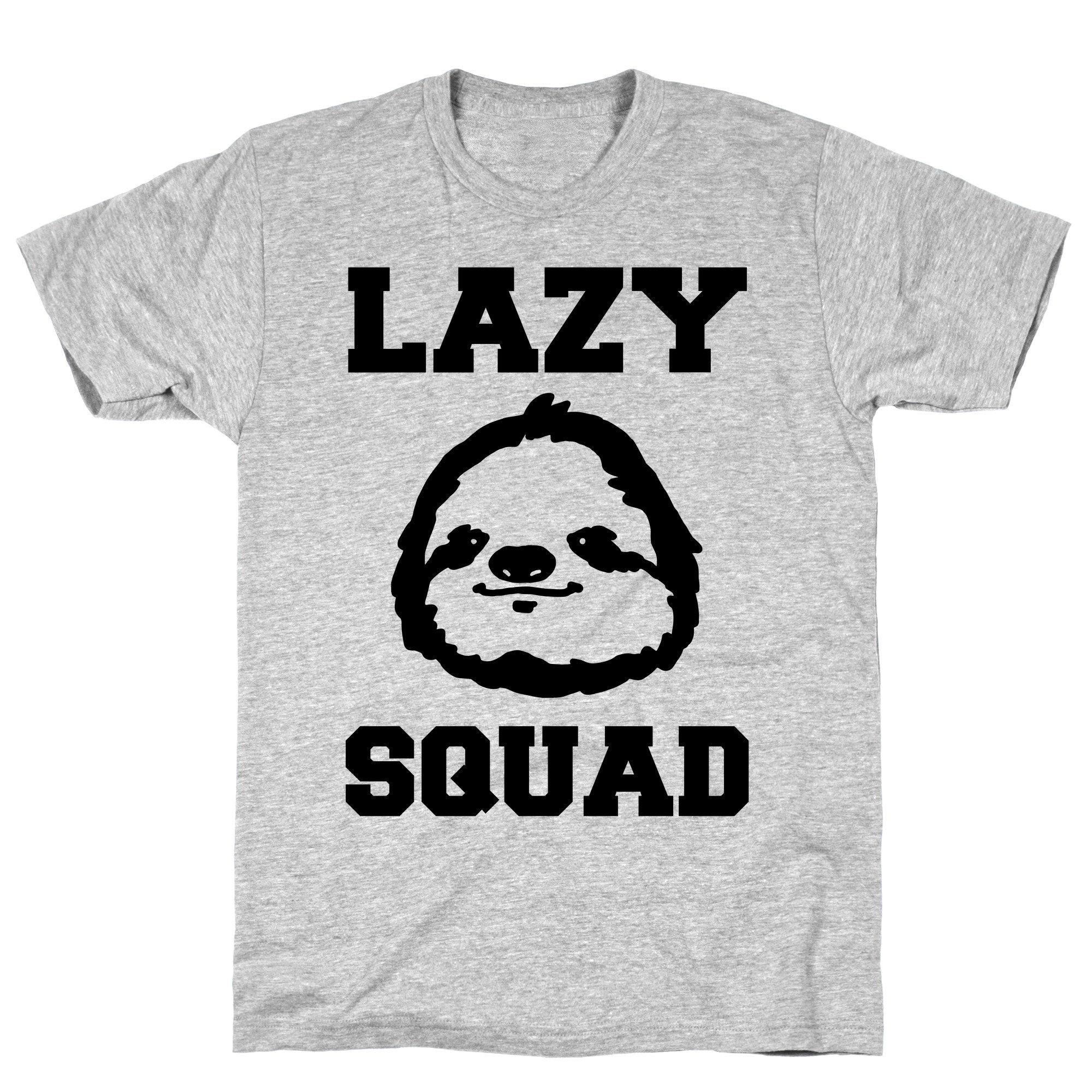 Lazy Squad Athletic Gray Tee 3505 Shirts
