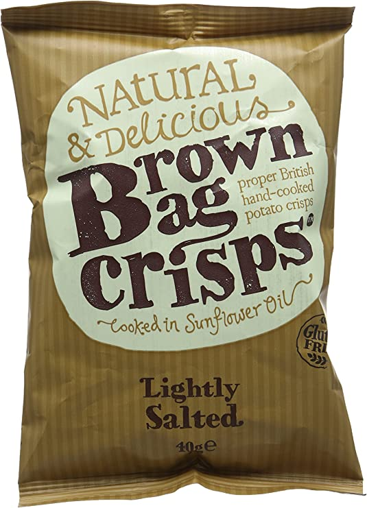 Brown Bag Crisps Lightly Salted 40 g (Pack of 20): Amazon.co.uk: Grocery