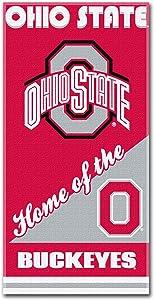 NCAA Ohio State Buckeyes Home Beach Towel, 28 x 58-Inch