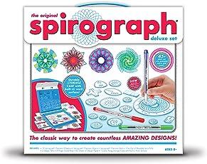 Spirograph Set, Juego de diseño lujoso, Multi Color, Mediano
