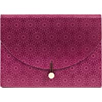 U Brands Fleuri Fashion Expandable File Folder, Letter Size, 13 Pockets, Maroon