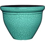 "Classic Home and Garden 707D-558R 7"" Snap Pot Planter, 7"" Round, Teal Crackle"