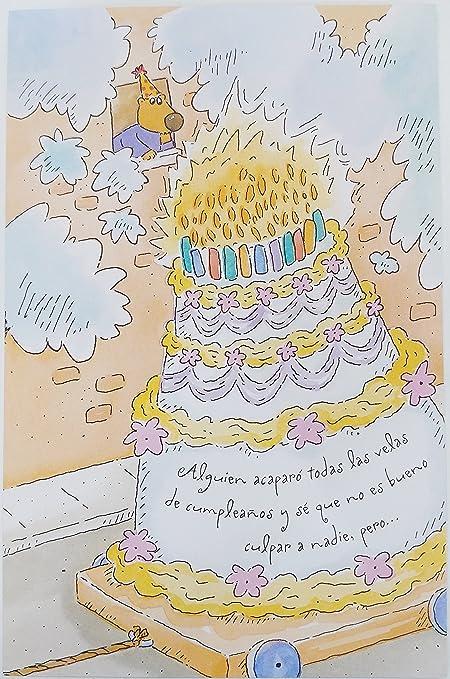 Feliz cumpleaños/tarjeta de felicitación de cumpleaños en Español ...