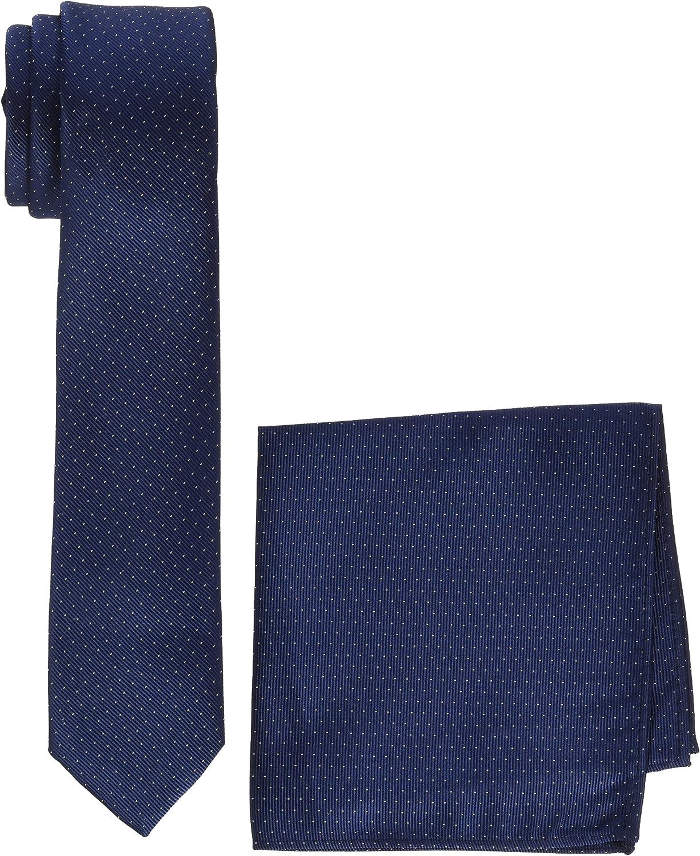 MLT Belts & Accessoires Manhattan Conjunto de corbata, Azul (Navy ...