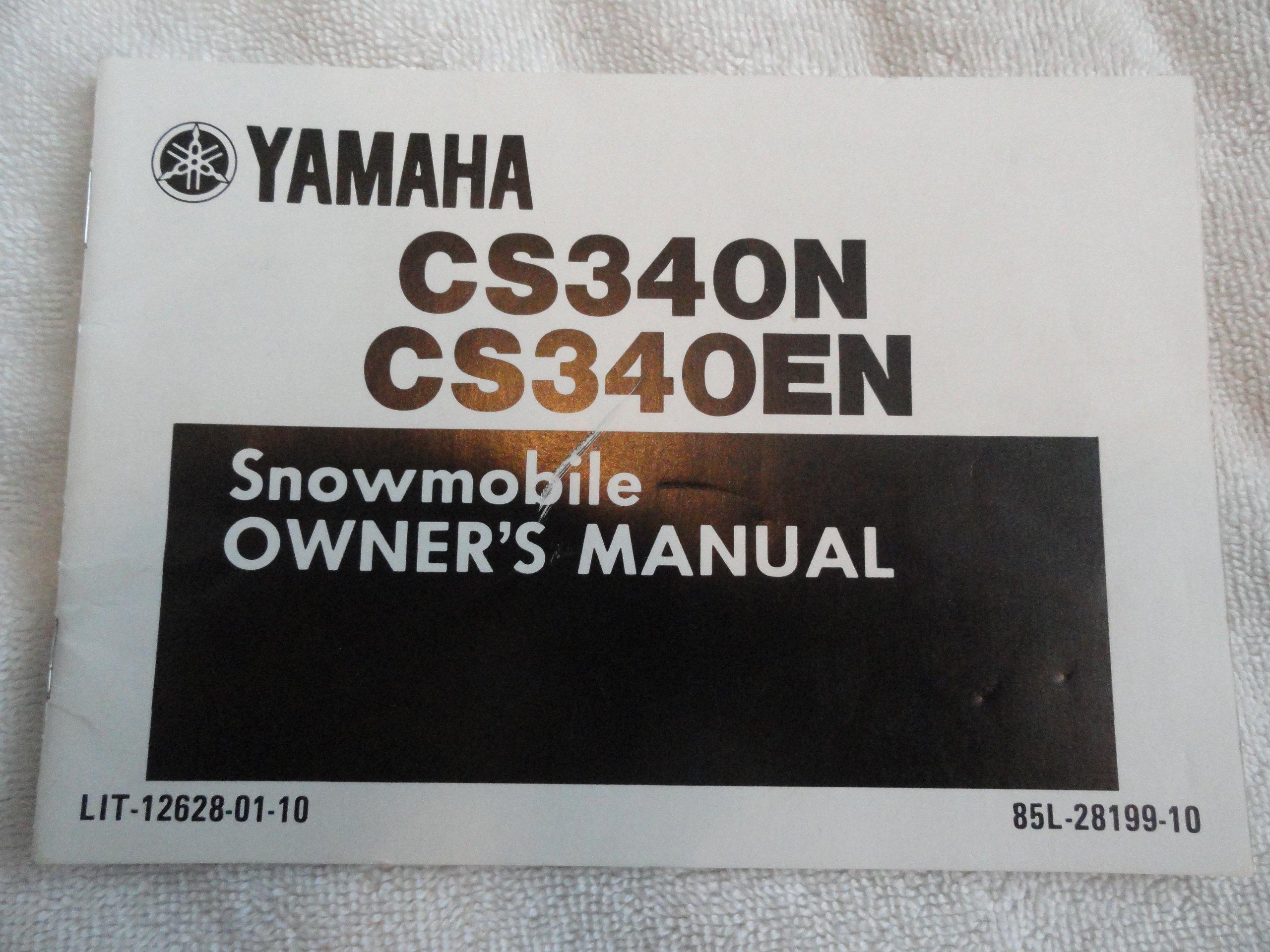 1988 1989 Yamaha Snowmobile Owners Manual CS 340 N / EN: Yamaha:  Amazon.com: Books