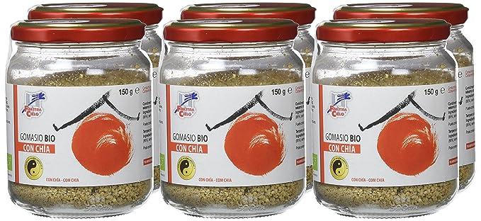 Gomasio con chía BIO 150gr x 6uds_ Total: 900gr: Amazon.es ...
