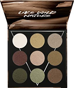 essence | EARTH Eyeshadow Palette | 9 Blendable Green & Neutral Shades | Gluten & Paraben Free | Cruelty free