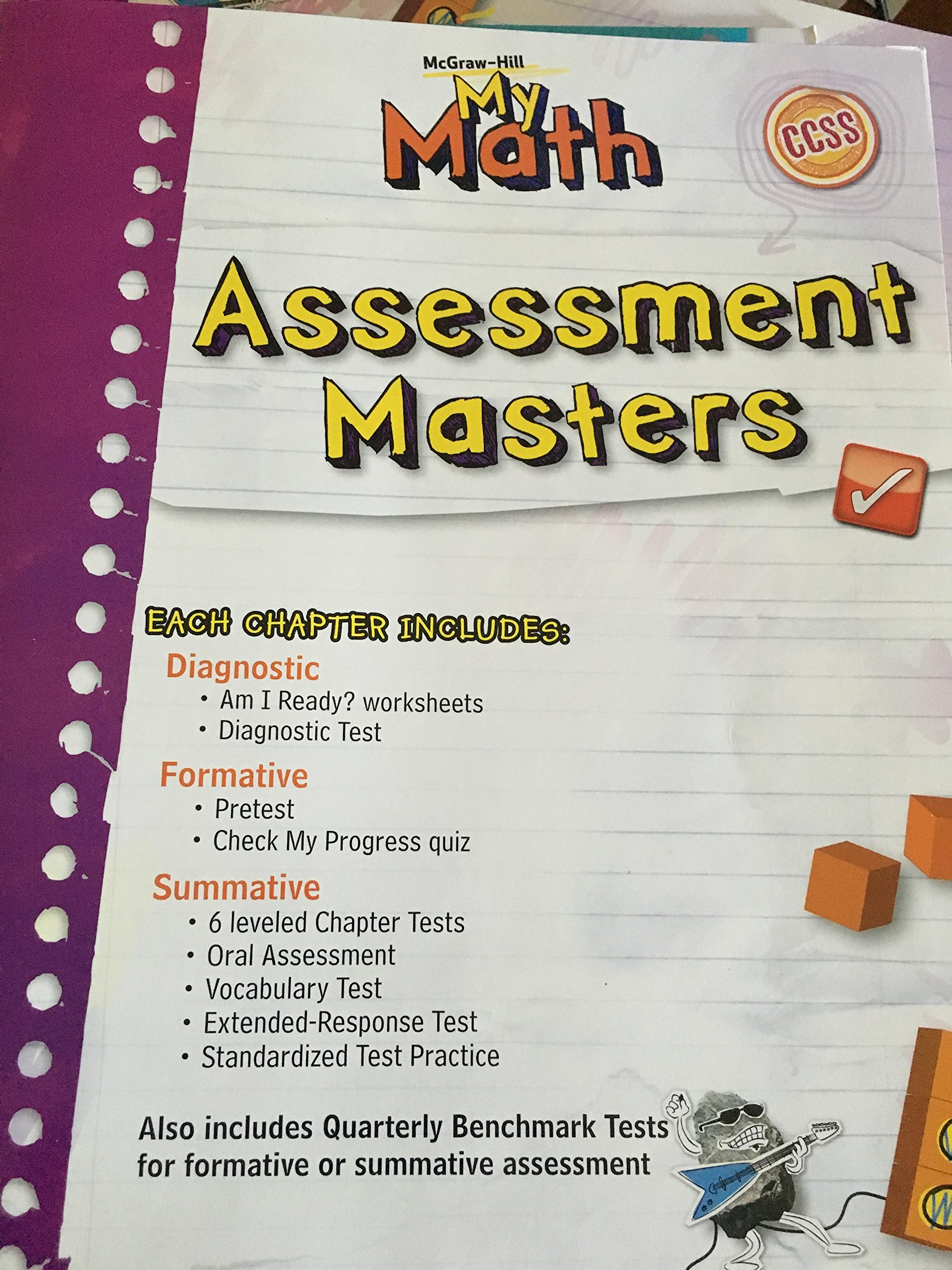 My Math Assessment Masters Grade 5: carter: 9780021162116: Amazon ...
