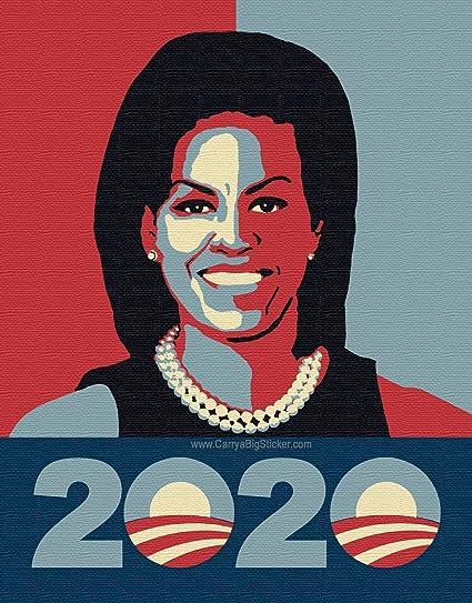 amazon com michelle obama 2020 bumper sticker poster style