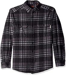 Wolverine Mens Glacier Heavyweight Long Sleeve Flannel Shirt