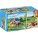 Playmobil - 5457 - Figurine - Compact Set Anniversaire - Cavaliers Avec Poneys Et Carriole