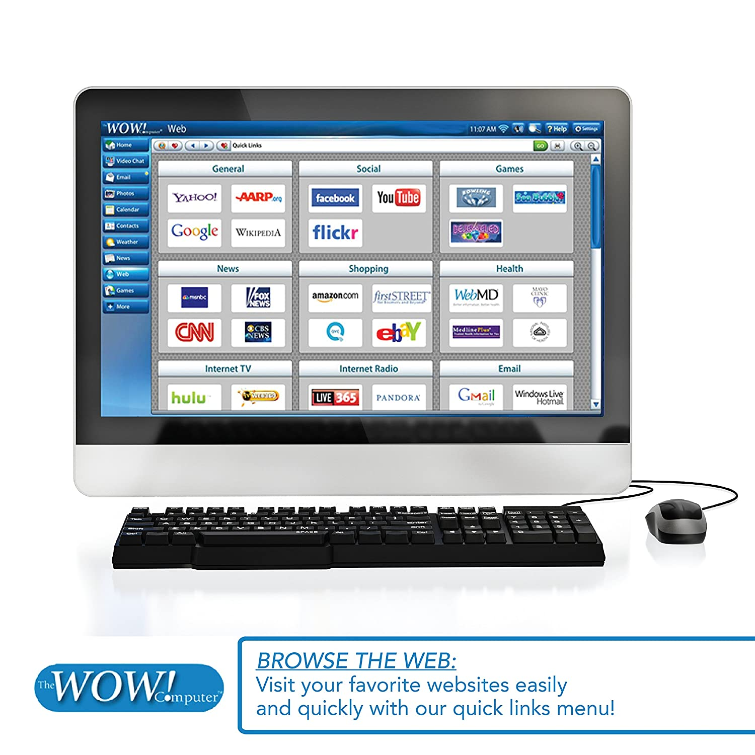 amazon com wow computer for seniors big 22 inch touch screen
