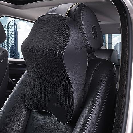 Sojoy Premium Memory Foam Cushion Car Neck Pillow Classic Black 17x12 5x5
