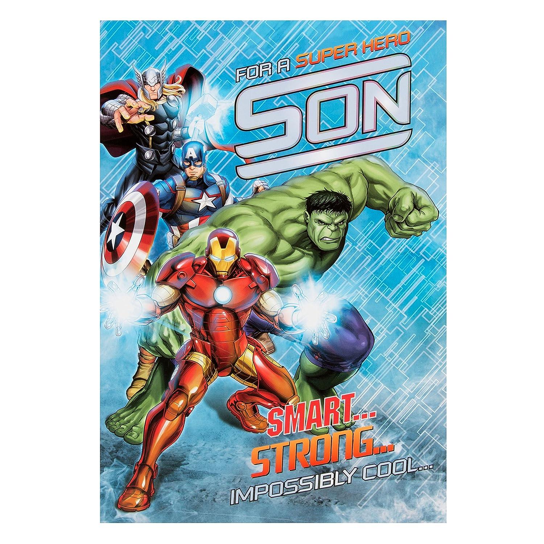 Amazon.com: Marvel Avengers hijo tarjeta de cumpleaños: Toys ...