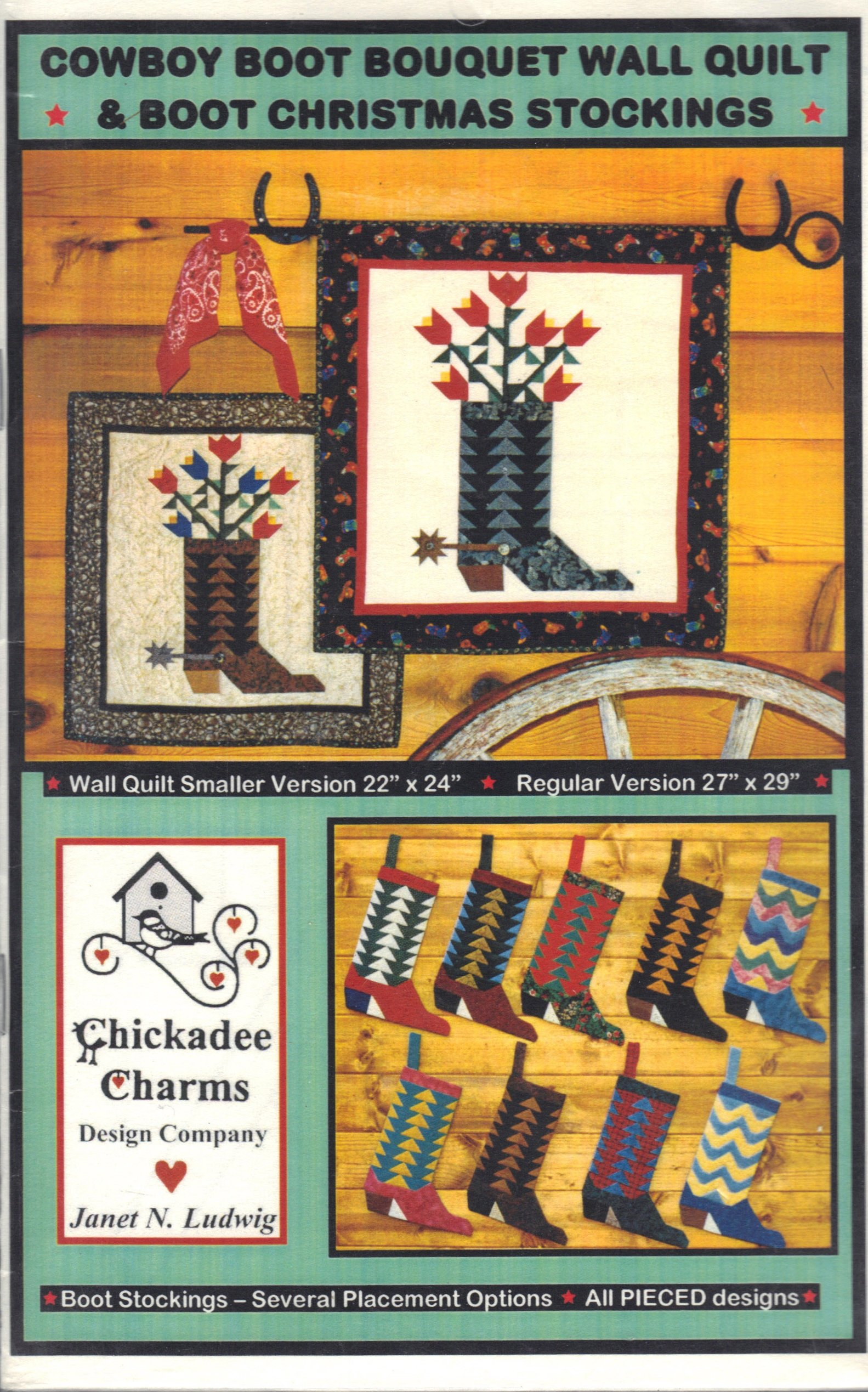 Cowboy Boot Bouquet Wall Quilt Boot Christmas Stockings